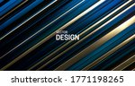 blue and golden layered surface....   Shutterstock .eps vector #1771198265