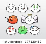 set of cartoon heads with... | Shutterstock .eps vector #177120452