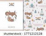 cute baby squirrel. cartoon... | Shutterstock .eps vector #1771212128