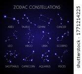 set of 12 zodiacal... | Shutterstock .eps vector #1771214225