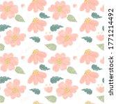 watercolor cute pink daisy... | Shutterstock . vector #1771214492