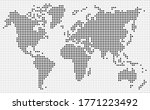 dotted world map black dots... | Shutterstock .eps vector #1771223492