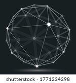 dimensional lattice mesh vector ... | Shutterstock .eps vector #1771234298