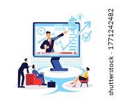 marketing coaching online flat... | Shutterstock .eps vector #1771242482