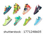 fitness sneakers shoes set.... | Shutterstock .eps vector #1771248605