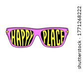 happy place sunglasses color... | Shutterstock .eps vector #1771268222
