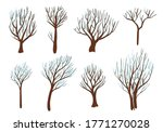 trees and seasons. hand drawn... | Shutterstock .eps vector #1771270028