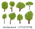 trees and seasons. hand drawn... | Shutterstock .eps vector #1771272758