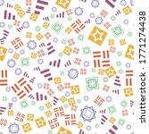 flat geometric pattern texture. ... | Shutterstock .eps vector #1771274438