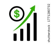 trend graph of the rising... | Shutterstock .eps vector #1771280732