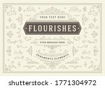 vintage ornaments swirls and... | Shutterstock .eps vector #1771304972