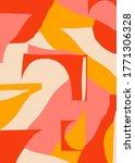 creative minimalism retro... | Shutterstock .eps vector #1771306328