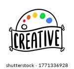 creative hand drawn vector... | Shutterstock .eps vector #1771336928