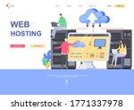 web hosting flat landing page...