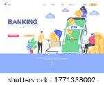 banking flat landing page...