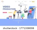video production flat landing... | Shutterstock .eps vector #1771338008