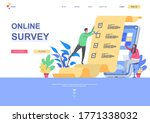 online survey flat landing page ...