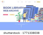 book library web archive flat...