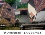 Interior Yard Of Saxon Household