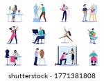 vector of diverse people with... | Shutterstock .eps vector #1771381808