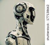 Stylish Cyborg Man   Serious...