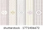 set of geometric textures with... | Shutterstock .eps vector #1771406672