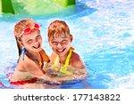 children on water slide at... | Shutterstock . vector #177143822