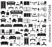 Home Furniture Icons Set ...