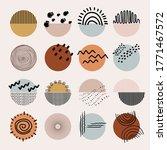 set of sixteen abstract... | Shutterstock .eps vector #1771467572
