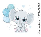 Cute Baby Elephant With...