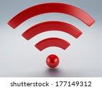 wifi icon 3d | Shutterstock . vector #177149312