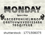 vintage font   typeface vector  ... | Shutterstock .eps vector #1771508375