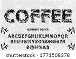 typography vector  vintage font ... | Shutterstock .eps vector #1771508378