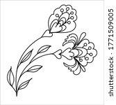 vector hand drawn doodle... | Shutterstock .eps vector #1771509005