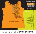salwar kameez artwork for ready ... | Shutterstock .eps vector #1771509272