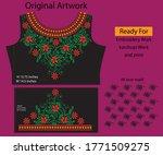 salwar kameez artwork for ready ... | Shutterstock .eps vector #1771509275
