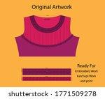 salwar kameez artwork for ready ... | Shutterstock .eps vector #1771509278