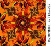 doodles black  red and orange... | Shutterstock .eps vector #1771511072
