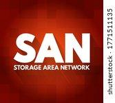 san   storage area network... | Shutterstock .eps vector #1771511135