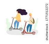 young man and woman ride... | Shutterstock .eps vector #1771512272