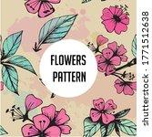 colorful flower pattern... | Shutterstock .eps vector #1771512638