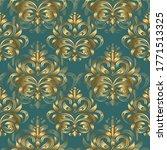 golden floral pattern on a... | Shutterstock .eps vector #1771513325