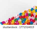 Colorful Wooden Numbers On Part ...