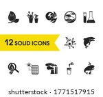 ecology icons set with atomic...