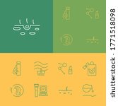 cosmetology icons set with acid ...