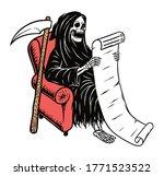 skull grim read the list on... | Shutterstock .eps vector #1771523522