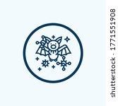 bat and virus transmission thin ... | Shutterstock .eps vector #1771551908