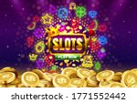 play now slots neon icons ... | Shutterstock .eps vector #1771552442