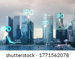 Hologram of ipo glowing icon ...
