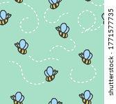 seamless pattern with cartoon...   Shutterstock . vector #1771577735